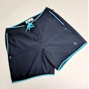 Original Penguin Blue Board Shorts Size 32